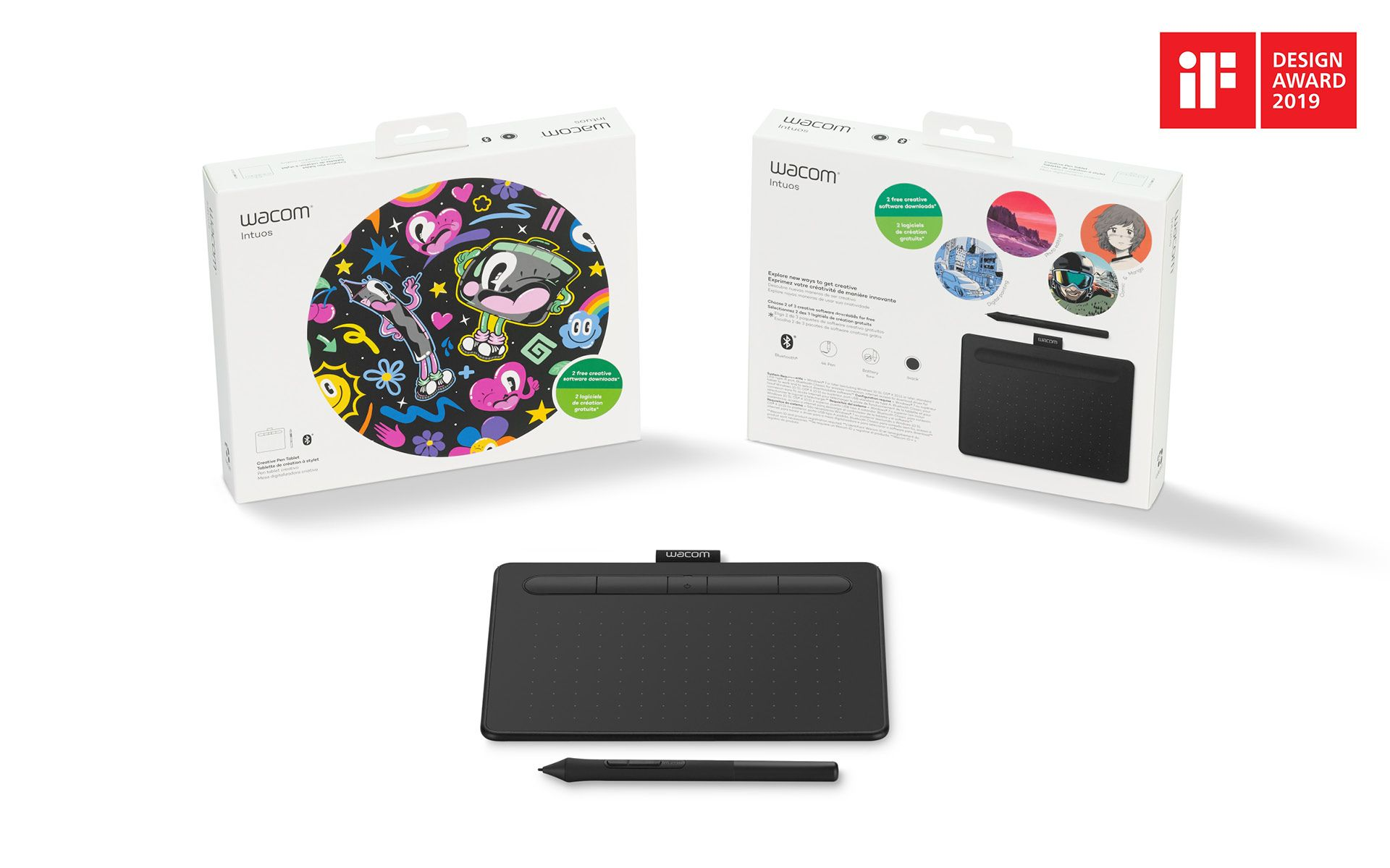 Wacom Intuos Small & Bluetooth Black (CTL-4100WLK-N)