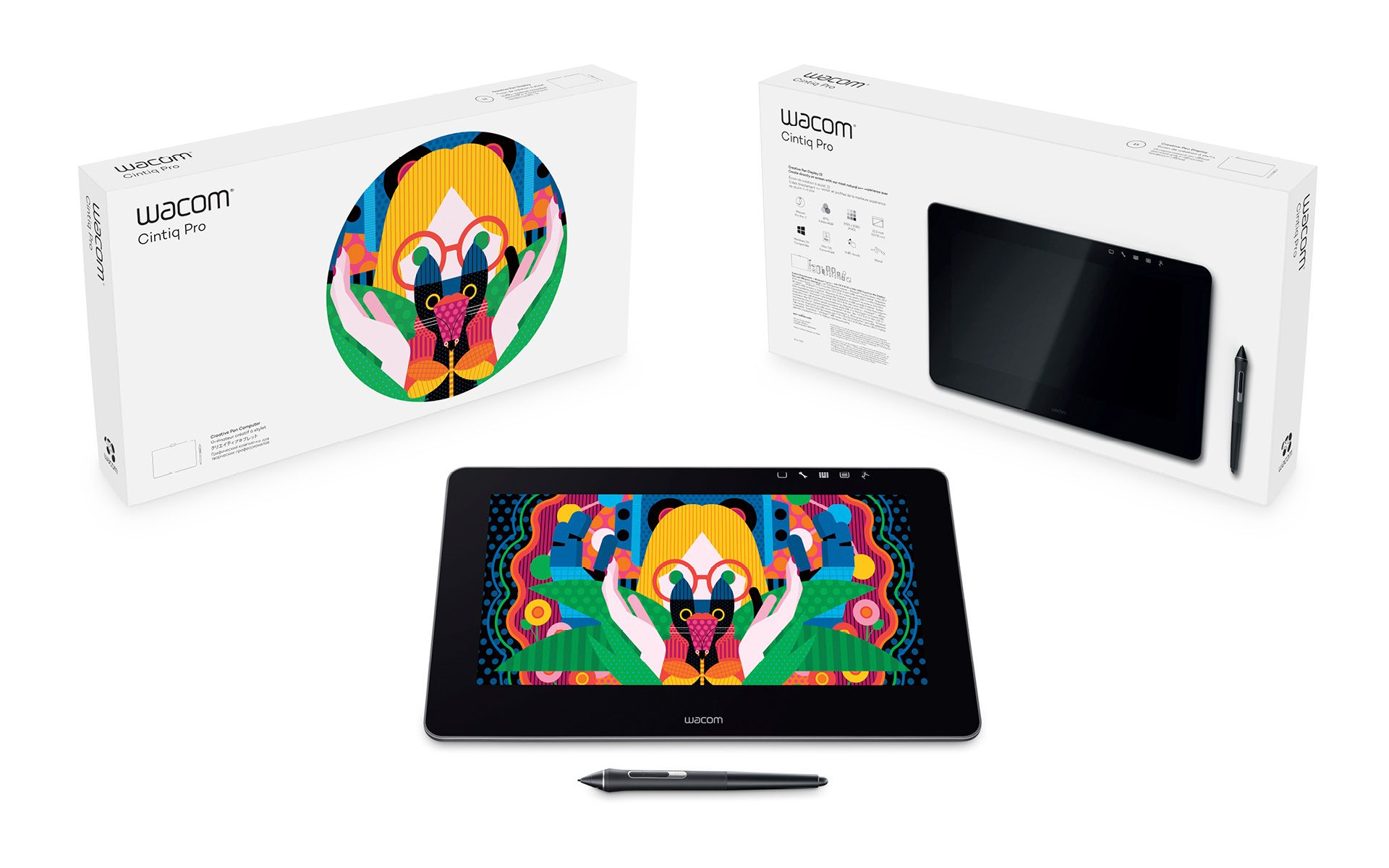 Wacom Cintiq Pro 13 Pen & Touch Grafik Tablet (DTH-1320A-EU) + Link Plus